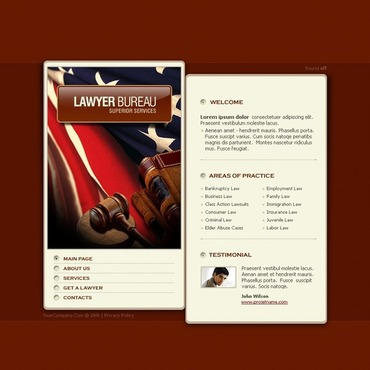 Lawyer Flash Template