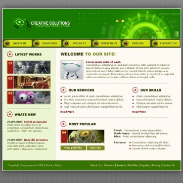 Web Design SWiSH Template