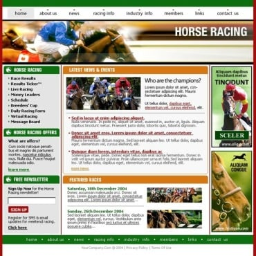 Horse Racing SWiSH Template