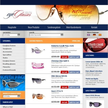 Eye Glasses CRE Loaded Template