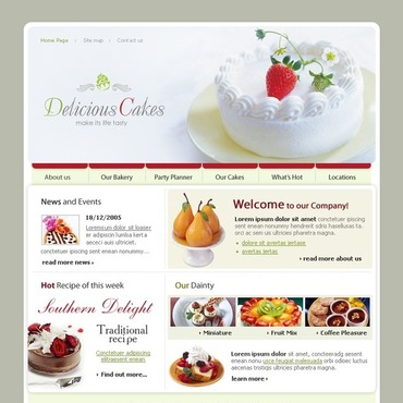 Sweet Shop SWiSH Template