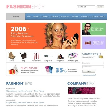 Fashion Store SWiSH Template