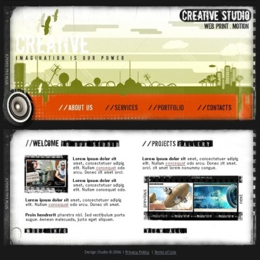 Web Design Flash Template