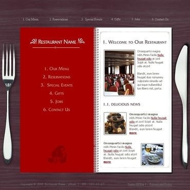 Cafe and Restaurant Flash Template