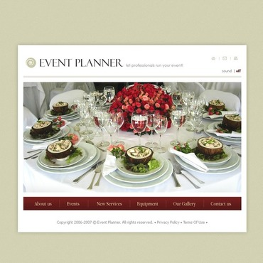 Event Planner Flash Template
