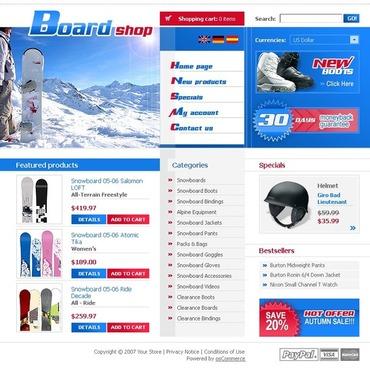 Snowboarding OsCommerce Template
