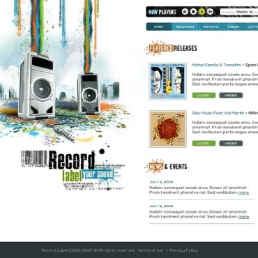 Recording Studio Flash Template