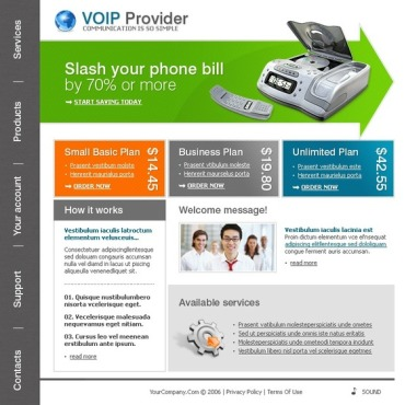 VOIP Flash Template