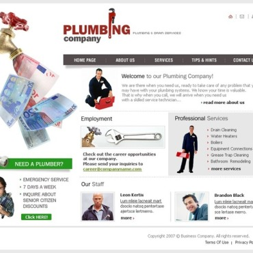 Plumbing SWiSH Template