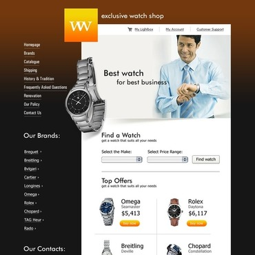 Watches Website Template