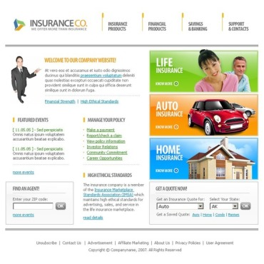 Insurance SWiSH Template