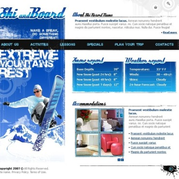 Snowboarding Flash Template