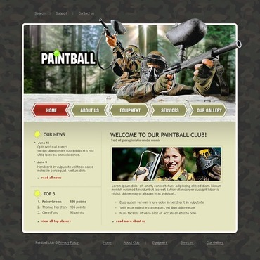 Paintball Flash Template