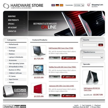 Computer Store CRE Loaded Template