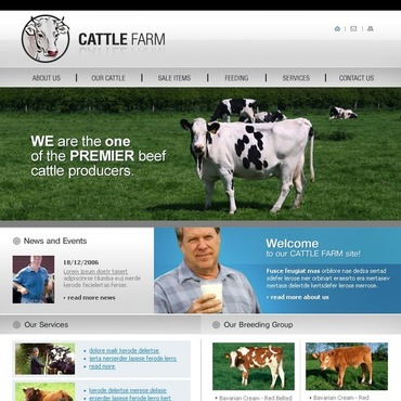 Cattle Farm SWiSH Template