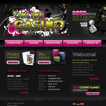 Online Casino Website Template