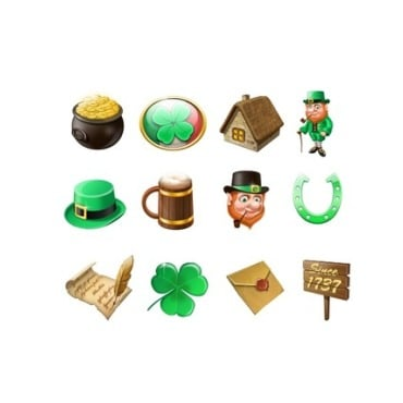 St. Patrick Green Iconset Template