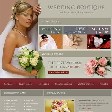 Wedding Shop Flash Template