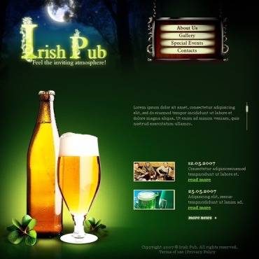Pub Flash Template