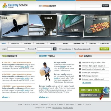 Delivery Services SWiSH Template