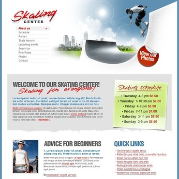 Skating Website Template