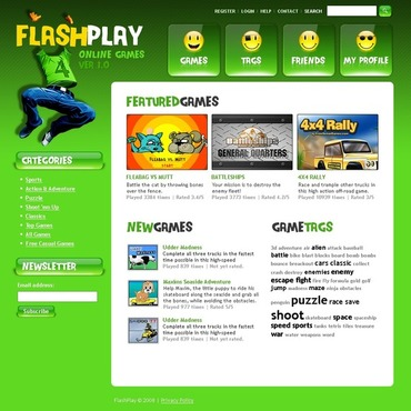 Flash Games Website Template