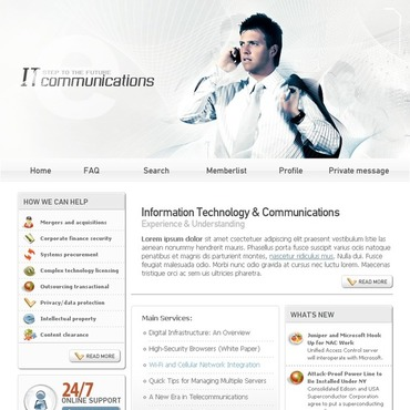 Communications PhpBB Template