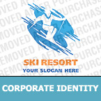 Skiing Corporate Identity Template