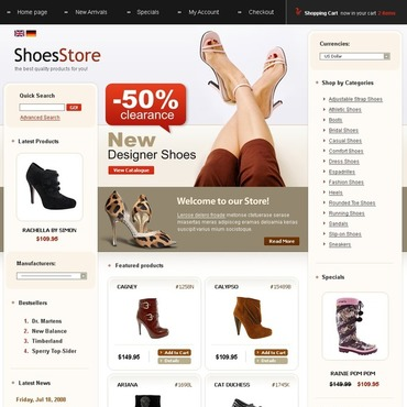 Shoe Store CRE Loaded Template