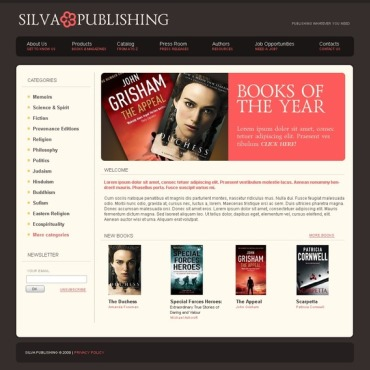 Publishing Company Website Template