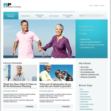 Retirement Planning Website Template