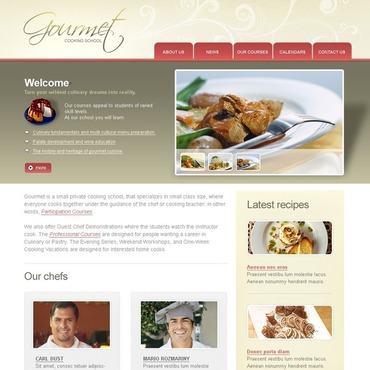 Cooking School Website Template