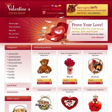St. Valentine OsCommerce Template