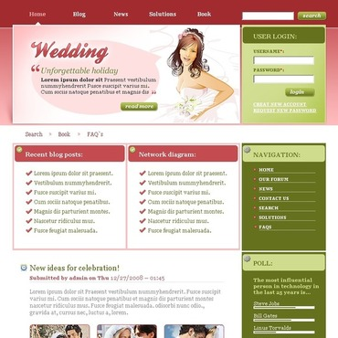 Wedding Album Drupal Template