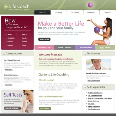 Life Coach Website Template
