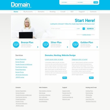 Domain Registrar Website Template