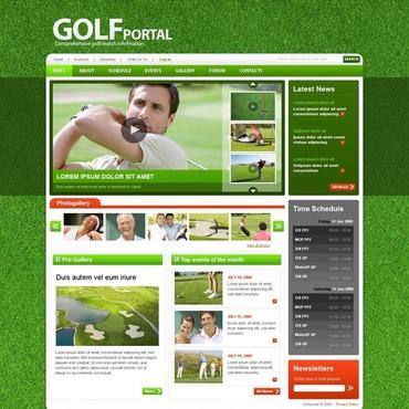 Golf Website Template