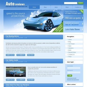 Car Club Drupal Template