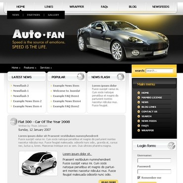 Car Club Joomla Template