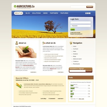 Agriculture Drupal Template