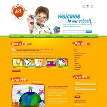Art School Joomla Template