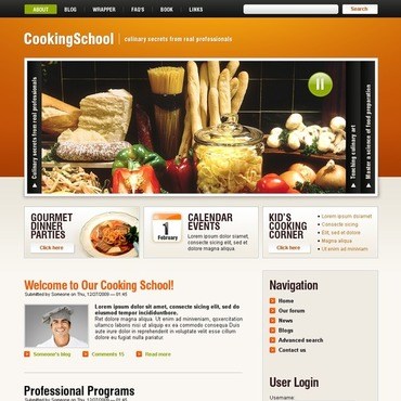 Cooking School Drupal Template