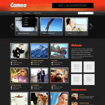 Video Gallery Website Template