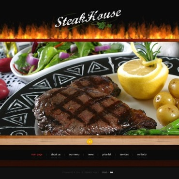 Steakhouse Flash Template