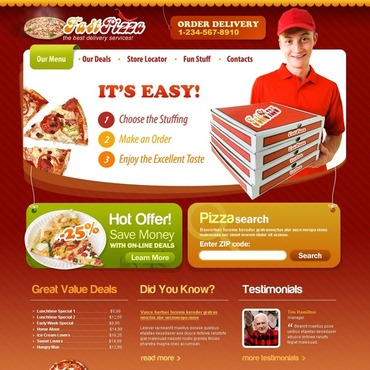Pizza Website Template