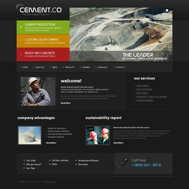 Cement Website Template