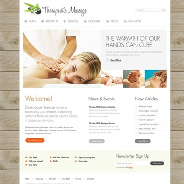 Massage Salon Website Template