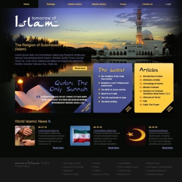 Islam Website Template