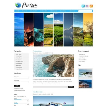 Travel Agency Drupal Template