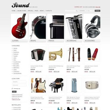 Music Store VirtueMart Template